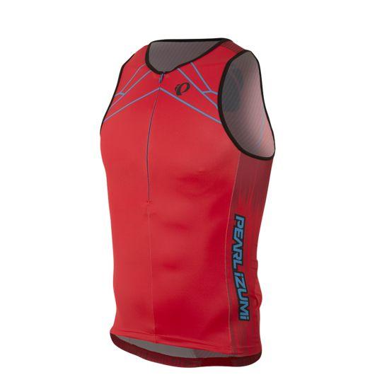Pearl Izumi Pearl Izumi Elite Inrcool Tri Jersey Red
