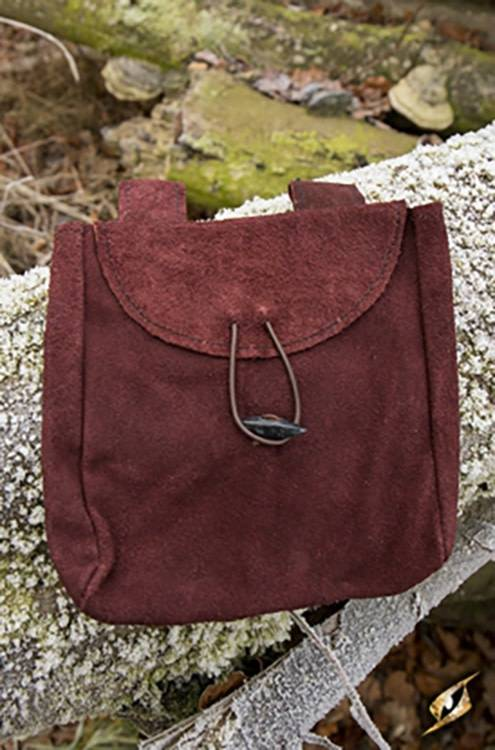 Thin Leather Bag - Brown - Large