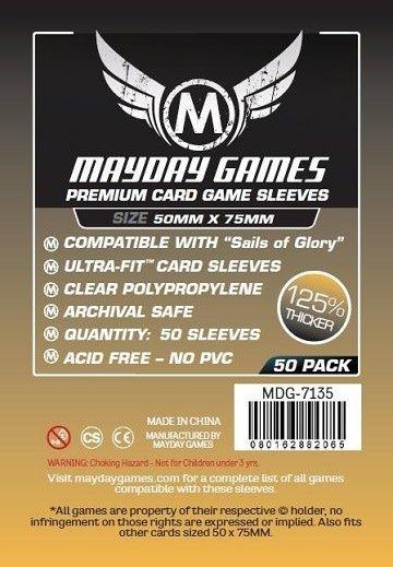 Protecteurs de cartes «Sails of Glory» 50mm X 75mm - Paquet de 50