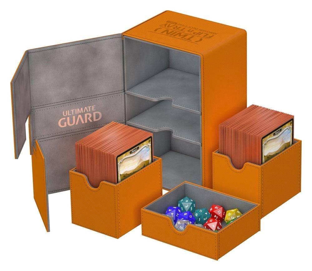 Deck Box: Twin Flip N Tray Xenoskin 160 Orange
