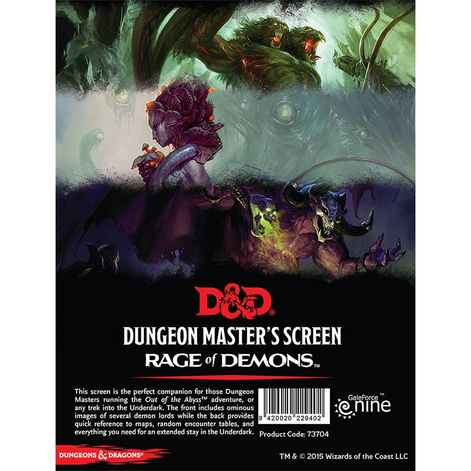 D&D DM Screen - Out of the Abyss