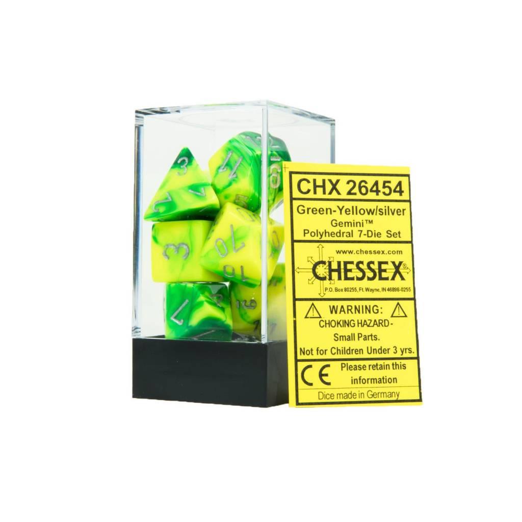 26454 7D Green-Yellow w/silver set