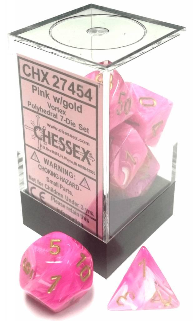 27454 Pink w/gold Vortex 7-Die set