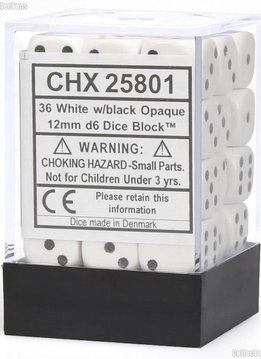 OPAQUE 36D6 WHITE/BLACK 12MM