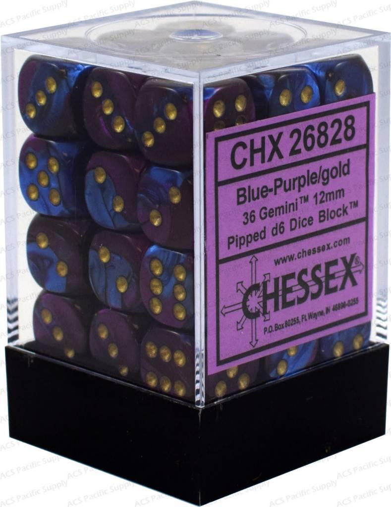 26828 Blue-Purple / gold 36d6