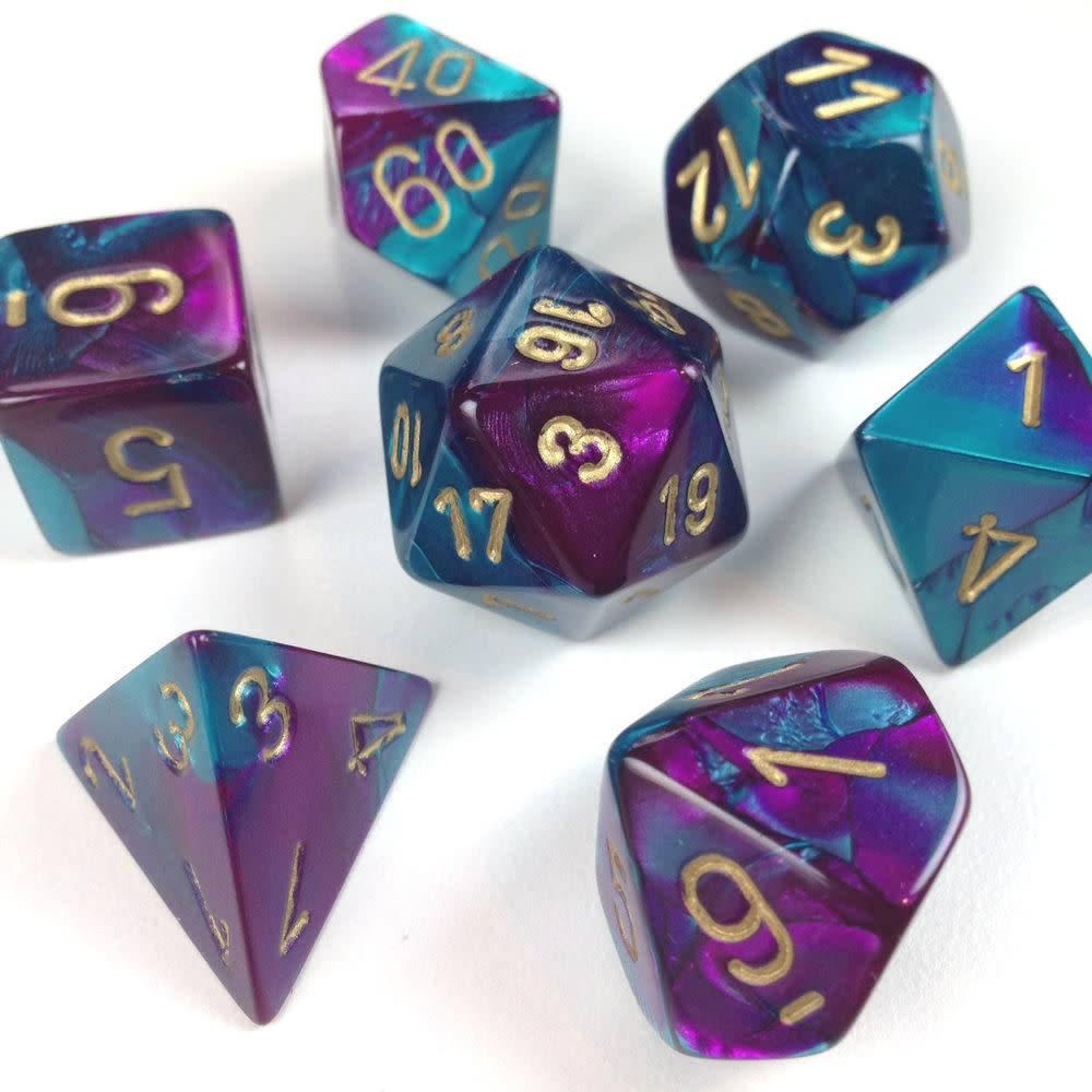 26449: Purple-Teal/gold 7d set