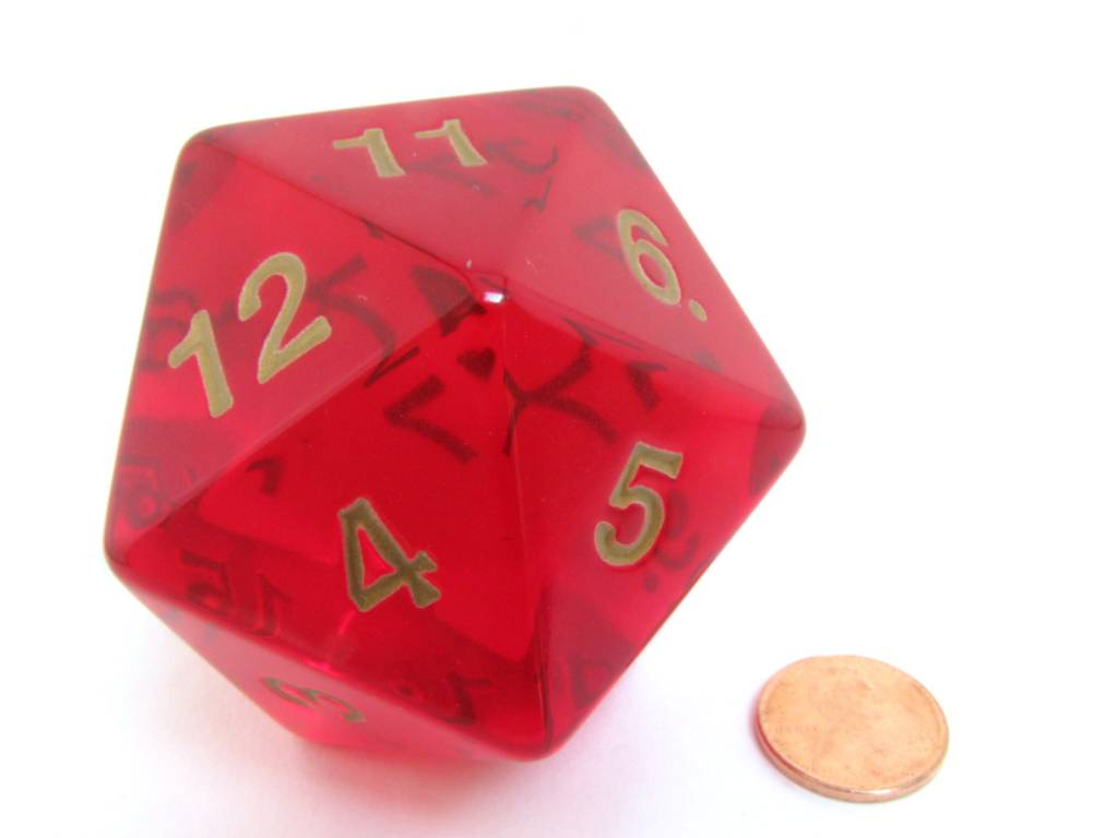 Jumbo D20 Ruby/Gold