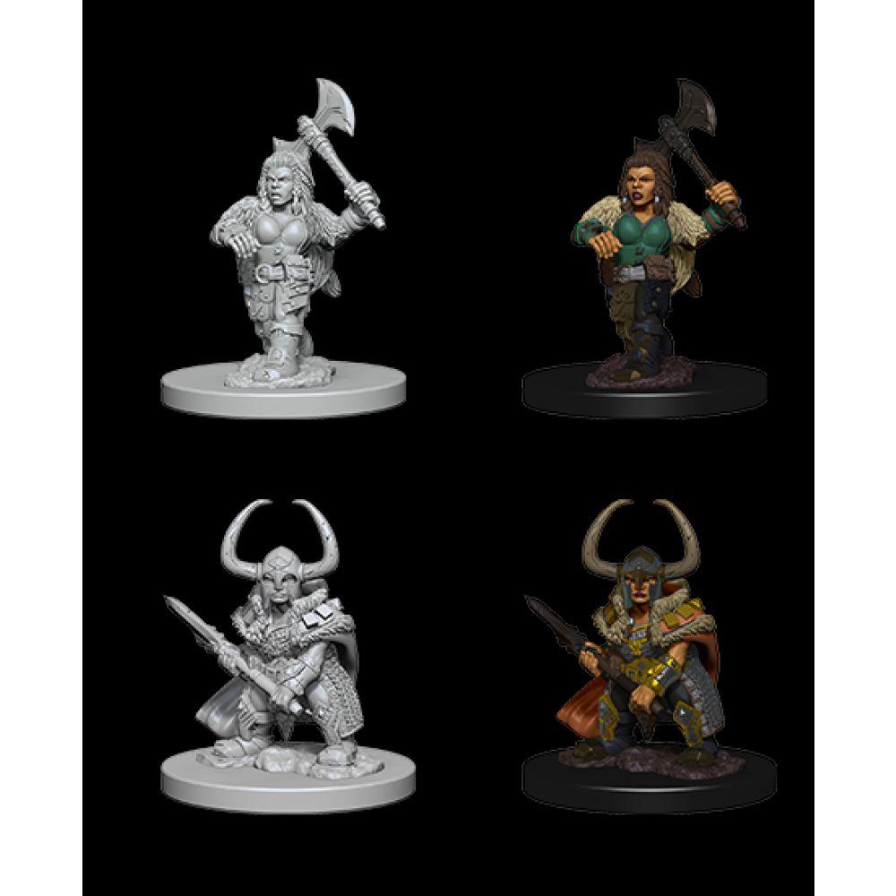 DND Unpainted Minis: Dwarf Female Barbarian
