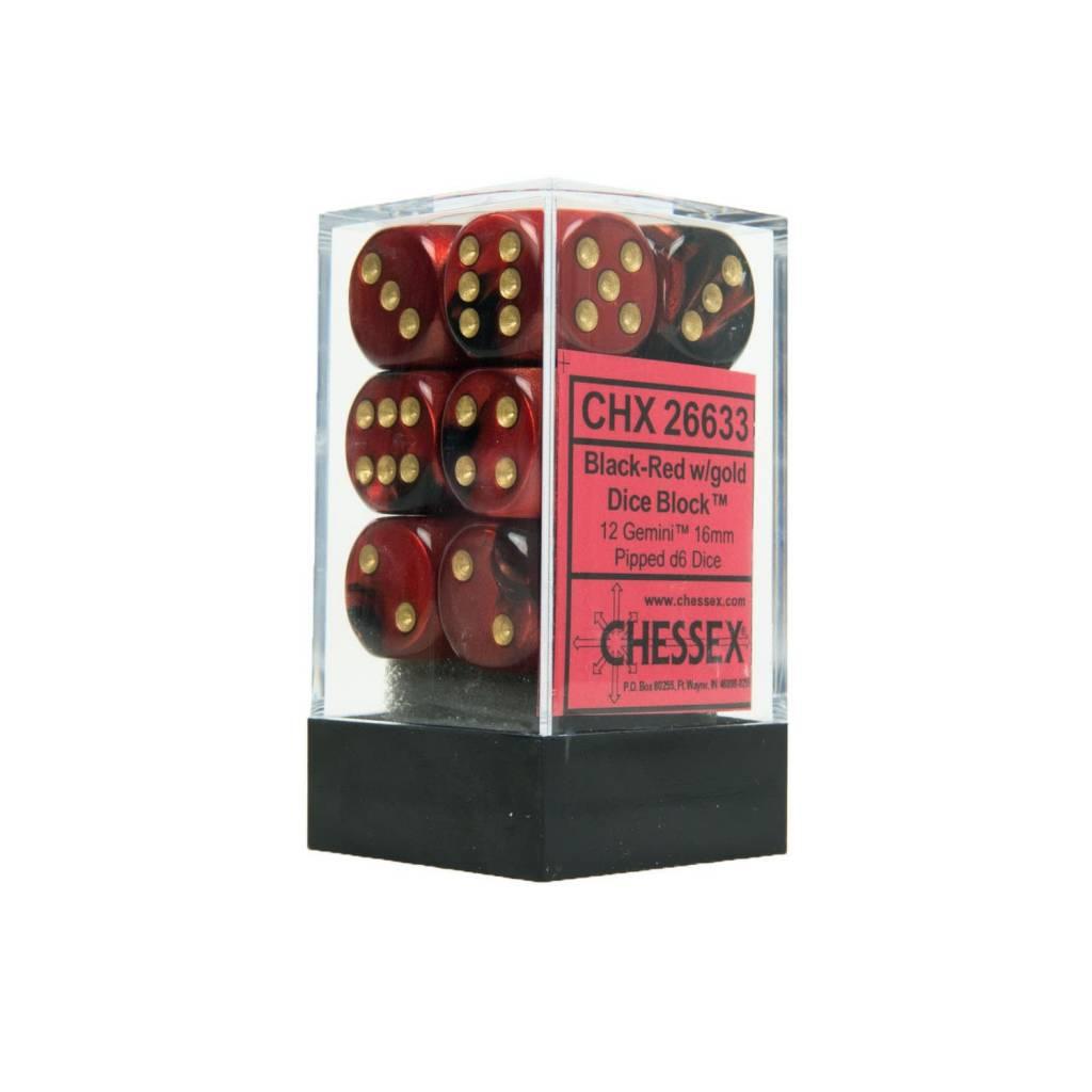 26633 Black Red Gold 12d6