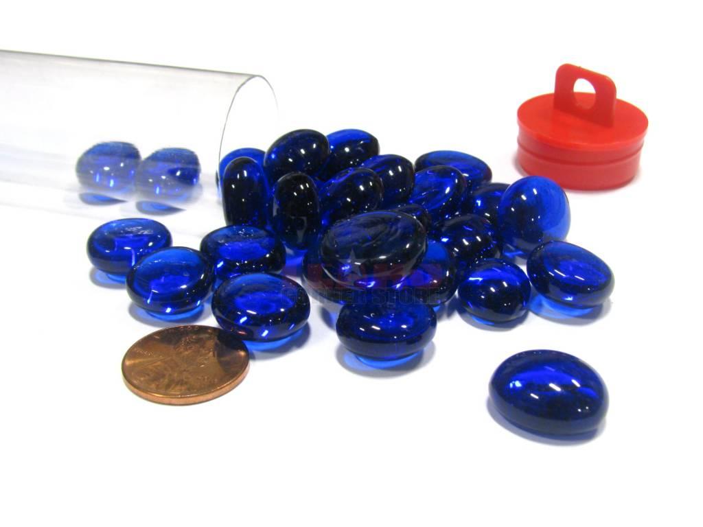 Glass Stones Tube - Azure Blue