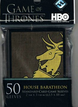 HBO GAME OF THRONES-CARD SLEEVE - HOUSE BARATHEON