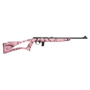 """Mossberg Gun 22LR Bolt Mossberg 802 Plinkster Pink Marb 18"""" Blued 10RND"""