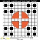Pro-Tactical TGT - Crosshair Sighting In Paper Target 20 Pack