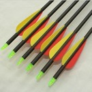 "SR Archery Made Arrows Sr Carbon 30"" 3"" Vanes X6"
