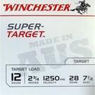 "Winchester AMMO 12G Lead Aus Super Target 1250 7.5 2-3/4"" 28Gm (Box 250)"