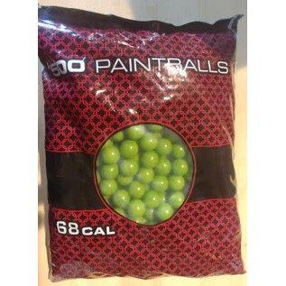 GI Sportz PB AMMO GI Sortz Premium Grade Yellow .68Cal Paint Balls (500 Box)