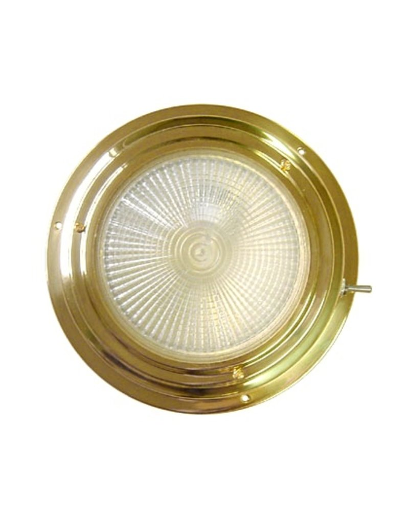 """AAA BRASS XENON DOME LIGHT 4"""" WHITE *CLEARANCE*"""