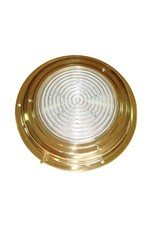 """AAA BRASS LED DOME LIGHT 4"""" RED/WHITE *CLEARANCE*"""