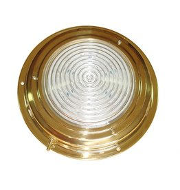 "BRASS LED DOME LIGHT 4"" RED/WHITE"