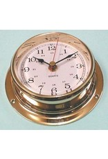 "VICTORY VICTORY BEZEL BRASS CLOCK 3 1/2"" *CLEARANCE*"