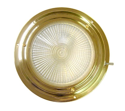 """AAA BRASS XENON DOME LIGHT 5"""" WHITE *CLEARANCE*"""