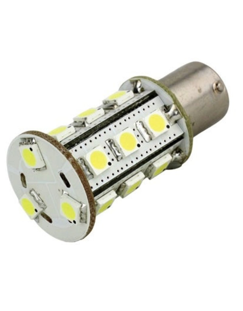 LUNASEA LUNASEA BA15S LED 21 WARM WHITE BULB BAYONET SINGLE CONTACT 8-30V *CLEARANCE* (REPLACED BY 1462318)