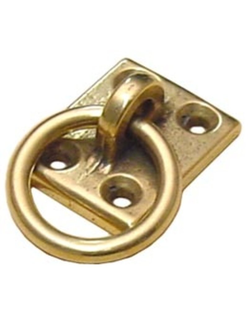 MOORING RING PLATE BRASS 4 HOLE