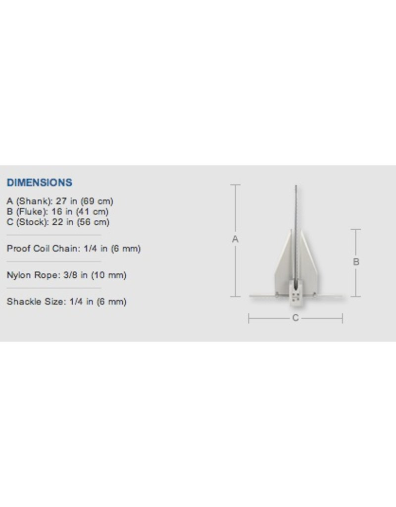 "FORTRESS FORTRESS 7LB ANCHOR FX11 (28""-32"" BOATS)"