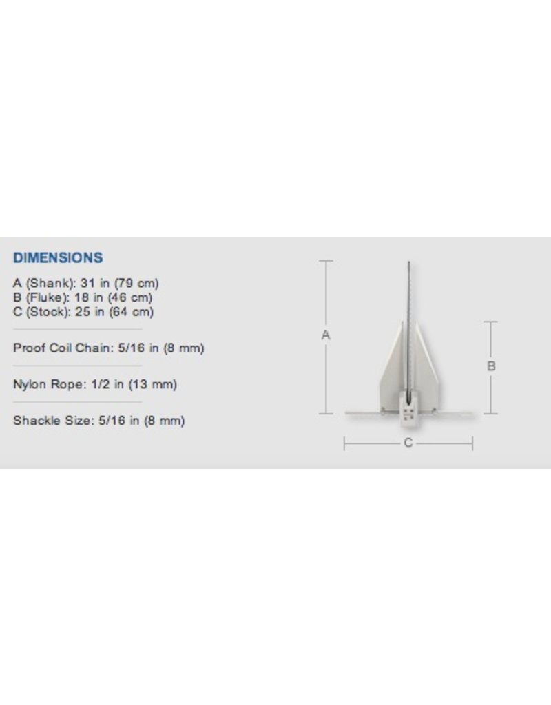 """FORTRESS FORTRESS 10LB ANCHOR FX16 (33""""-38"""" BOATS)"""