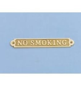 PLAQUE NO SMOKING BRASS *CLEARANCE*