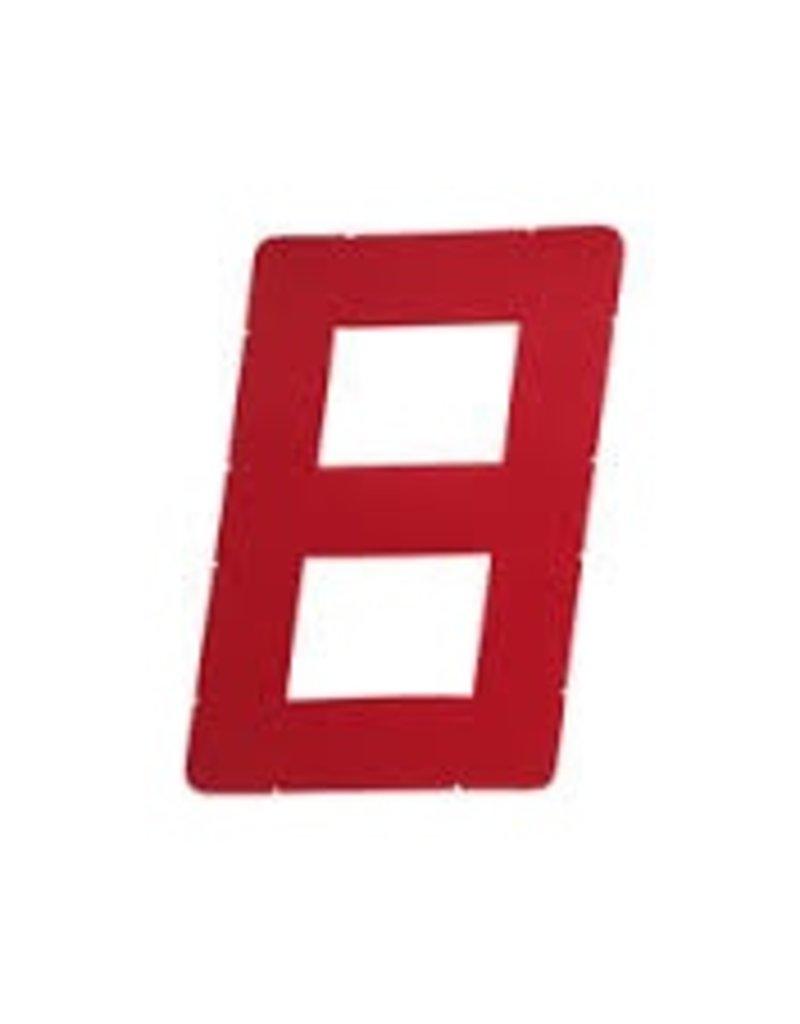 "LASER PERFORMANCE OPTI SAIL NUMBER DIGITAL 8 RED 9"""