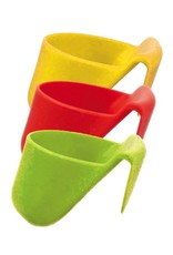 DIP HOLDER CUPS SILICONE STACKABLE RED/GREEN/YELLOW