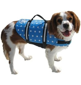 PAWS ABOARD DOG VEST XXS BLUE POLKA *CLEARANCE*