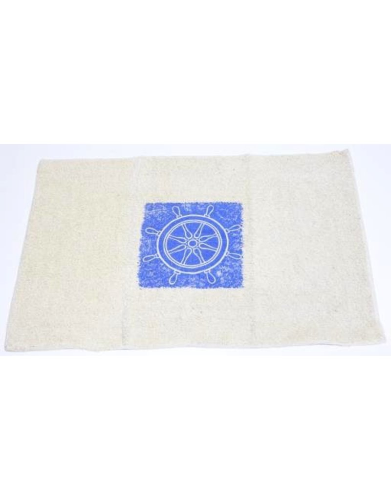BATH MAT SHIPS WHEEL