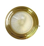 "BRASS XENON DOME LIGHT 4"" RED/WHITE"