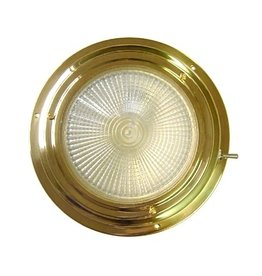 """AAA BRASS XENON DOME LIGHT 4"""" RED/WHITE"""
