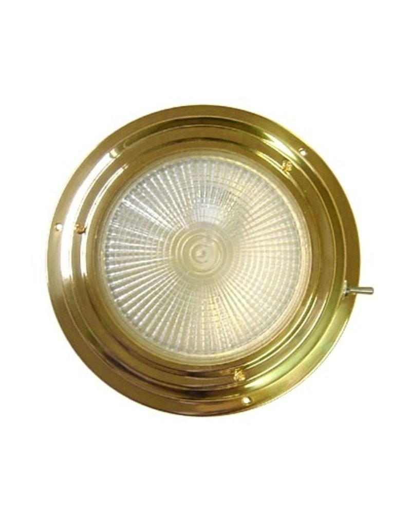"AAA BRASS XENON DOME LIGHT 4"" RED/WHITE *CLEARANCE*"