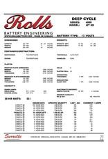 SURRETTE / ROLLS SURRETTE ROLLS BATTERY 12V 4000 SERIES HT 8D