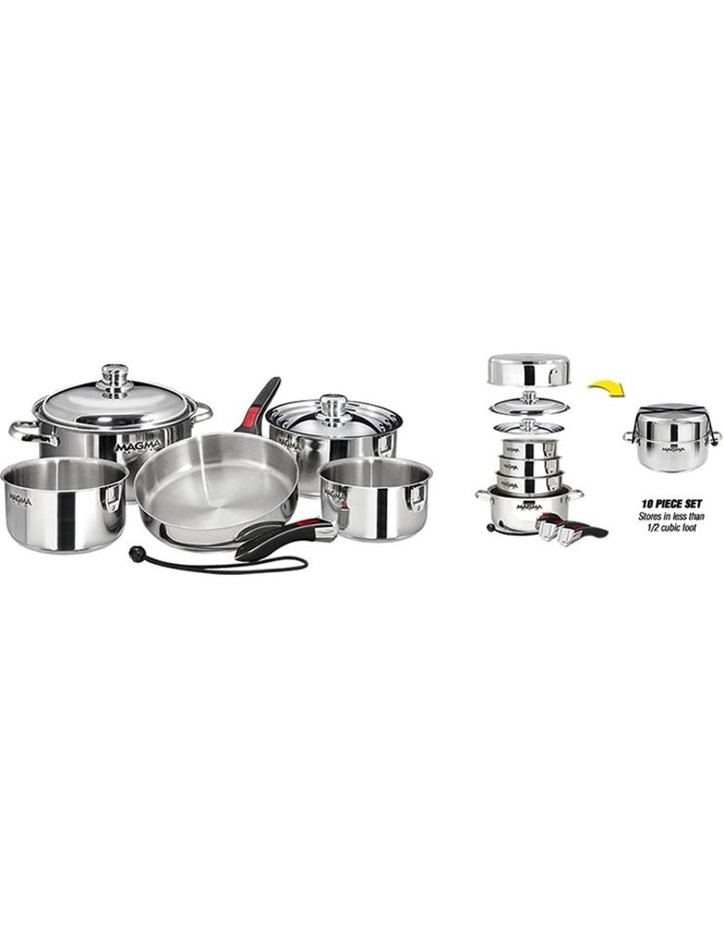 MAGMA MAGMA STAINLESS NESTING COOKWARE 10PC