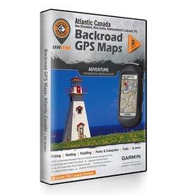 BACKROAD MAPBOOKS ATLANTIC CANADA V6 GPS MAPS (SD) *NEW*