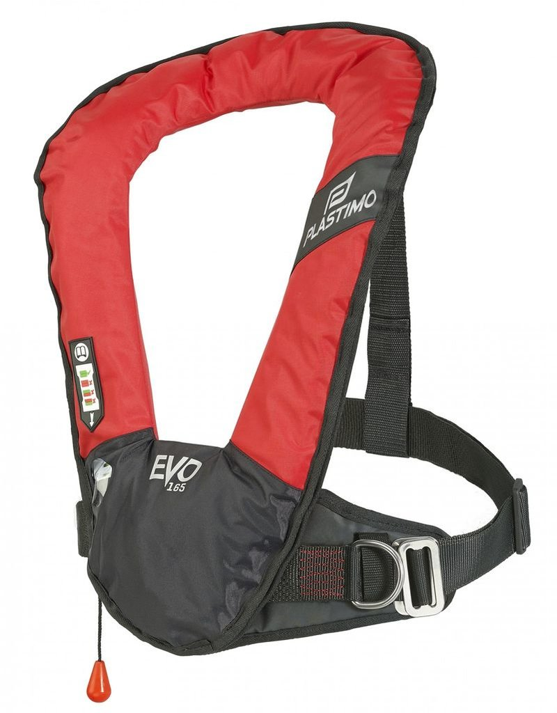 PLASTIMO PLASTIMO EVO HYDROSTATIC HAMMAR INFLATE LIFE JACKET W/OUT HARNESS (CROTCH STRAP NOT INCLUDED) RED *CLEARANCE*