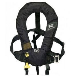 PLASTIMO PLASTIMO EVO HYDROSTATIC HAMMAR INFLATE LIFE JACKET W/OUT HARNESS (CROTCH STRAP INCLUDED) BLACK *NEW*