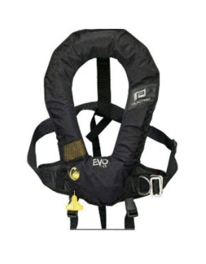 PLASTIMO PLASTIMO EVO HYDROSTATIC HAMMAR INFLATE LIFE JACKET W/OUT HARNESS (CROTCH STRAP INCLUDED) BLACK *CLEARANCE*