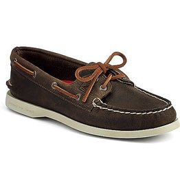 SPERRY SPERRY AUTHENTIC ORIGINAL DISTRESSED BROWN BOAT SHOE (WOMEN'S) *CLEARANCE*
