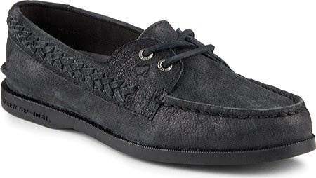 SPERRY SPERRY AUTHENTIC ORIGINAL 'QUINN' BLACK BOAT SHOE (WOMEN'S) *CLEARANCE*
