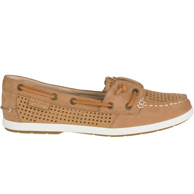 SPERRY SPERRY COIL IVY TAN PERFORATED LEATHER BOAT SHOE (WOMEN'S)