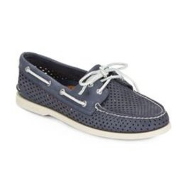 SPERRY SPERRY AUTHENTIC ORIGINAL VILLA PERFORATED NAVY BOAT SHOE (WOMEN'S)