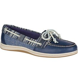 SPERRY SPERRY FIREFISH DENIM STRIPE NAVY BOAT SHOE (WOMEN'S) *CLEARANCE*