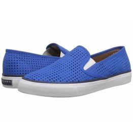 SPERRY SPERRY SEASIDE PERFORATED LEATHER COBALT BOAT SHOE (WOMEN'S)