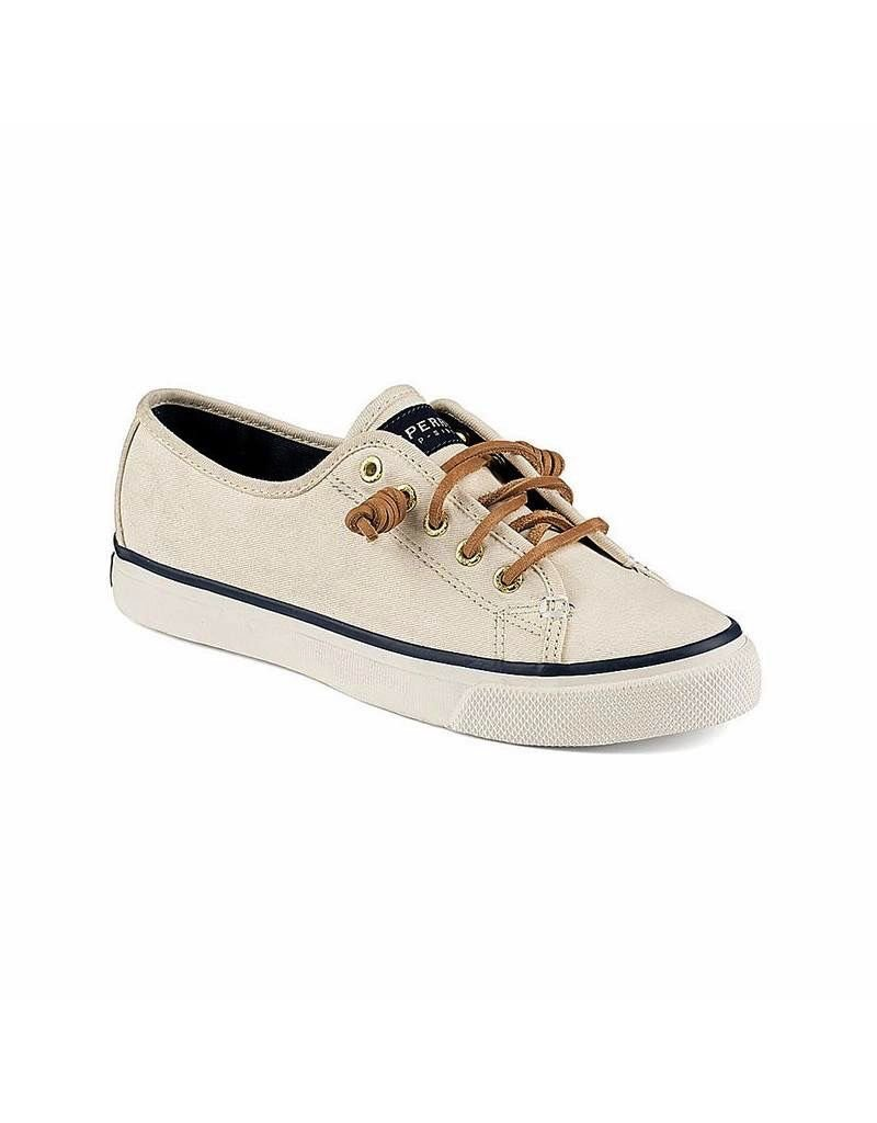 SPERRY SPERRY SEACOAST IVORY CANVAS BOAT SHOE (WOMEN'S) *CLEARANCE*